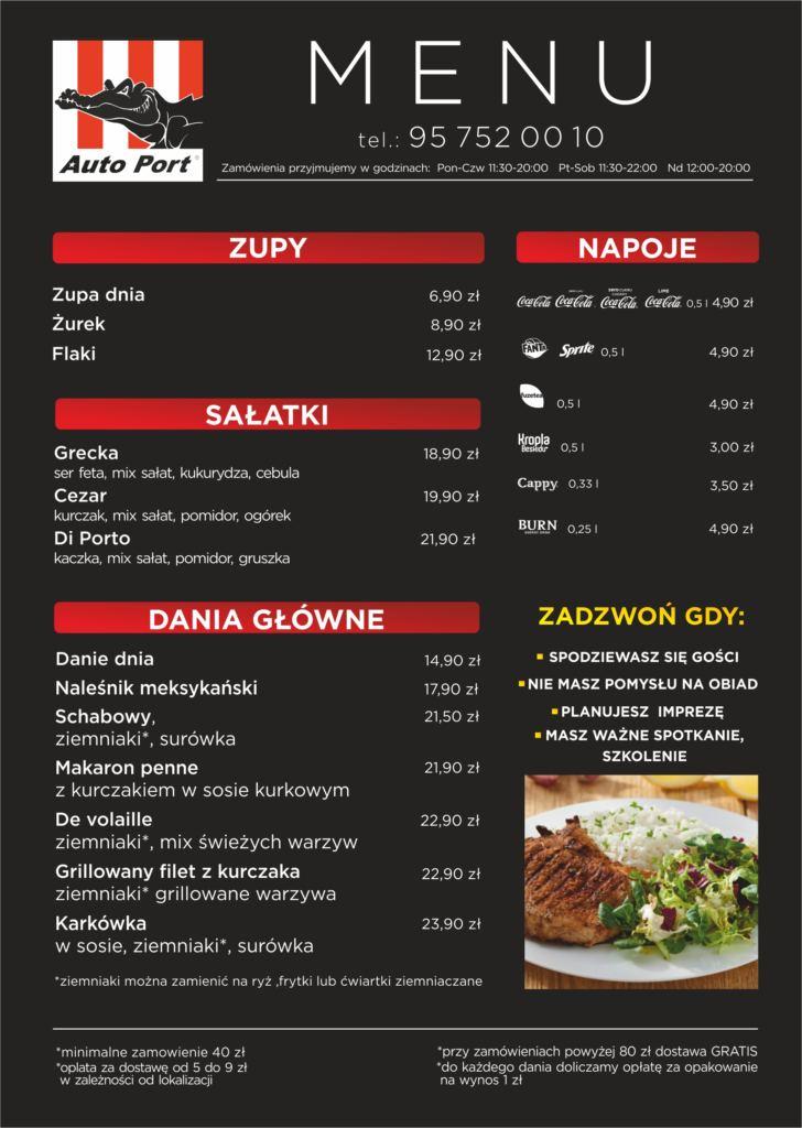 menu na dowóz gorzów